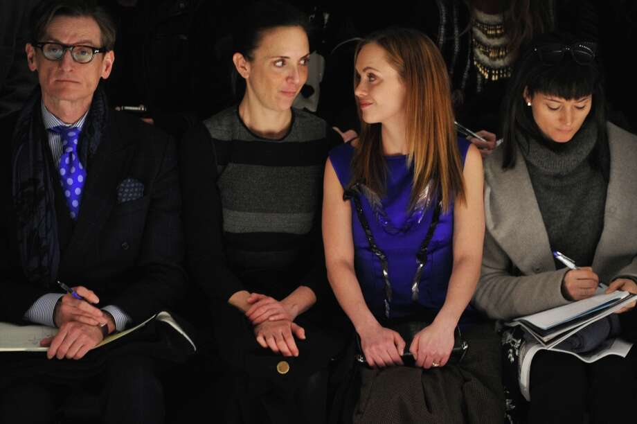 International Editor at Large for Vogue Hamish Bowles (L) and actress Christina Ricci (2nd from R) attend the Richard Chai Love & Richard Chai Men's Fall 2013 fashion show during Mercedes-Benz Fashion Week at The Stage at Lincoln Center on February 7, 2013 in New York City.  (Photo by Mike Coppola/Getty Images for Mercedes-Benz Fashion Week) Photo: Mike Coppola, (Credit Too Long, See Caption) / 2013 Getty Images