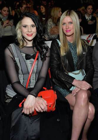 Singer Kate Nash and Nicky Hilton attend the Rebecca Minkoff Fall 2013 fashion show during Mercedes-Benz Fashion at The Theatre at Lincoln Center on February 8, 2013 in New York City.  (Photo by Mike Coppola/Getty Images for Mercedes-Benz Fashion Week) Photo: Mike Coppola, (Credit Too Long, See Caption) / 2013 Getty Images