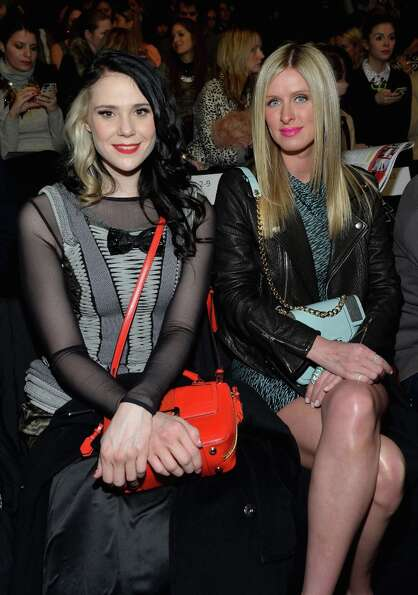 Singer Kate Nash and Nicky Hilton attend the Rebecca Minkoff Fall 2013 fashion show during Mercedes-