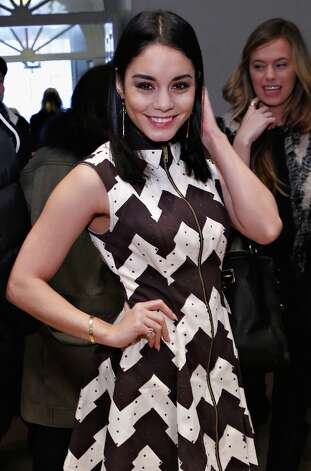 Actress Vanessa Hudgens attends the Chloe Sevigny for Opening Ceremony fall 2013 fashion show during Mercedes-Benz Fashion Week at St. Mark's Church In The Bowery on February 9, 2013 in New York City. Photo: Cindy Ord, Getty Images / 2013 Getty Images