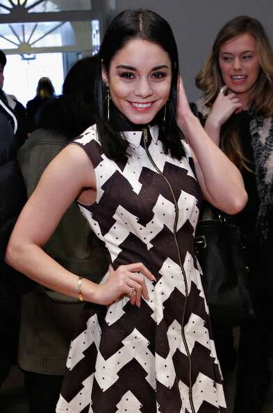 Actress Vanessa Hudgens attends the Chloe Sevigny for Opening Ceremony fall 2013 fashion show during