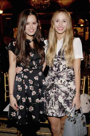 Atlanta De Cadenet (L) and Harley Viera Newton attend the Zac Posen Fall 2013 fashion show during Mercedes-Benz Fashion Week on February 10, 2013 in New York City.  (Photo by Jamie McCarthy/Getty Images for Mercedes-Benz Fashion Week) Photo: Jamie McCarthy, (Credit Too Long, See Caption) / 2013 Getty Images