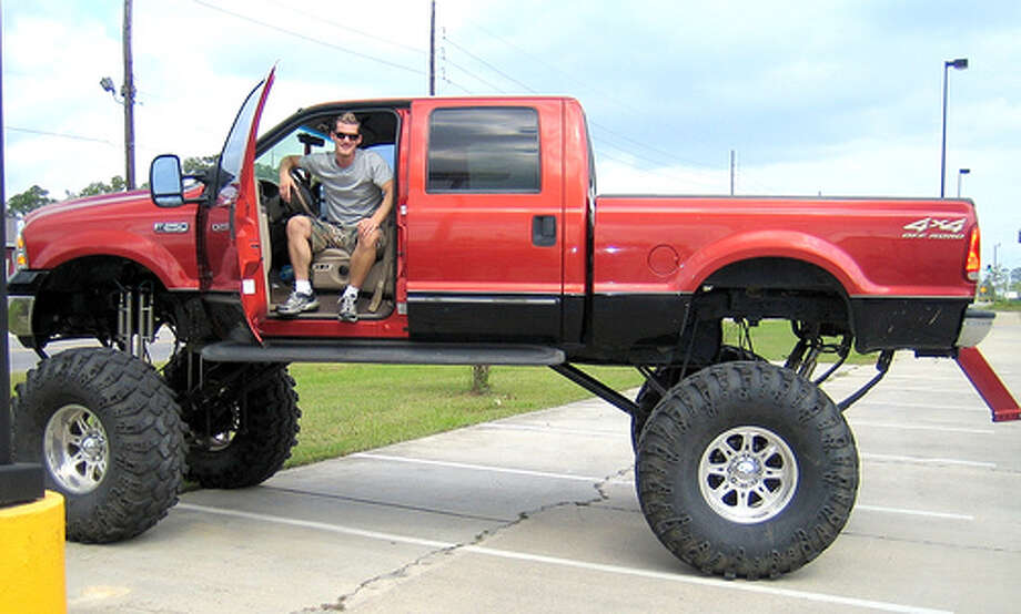 "Lift Kit: Depending on where you live, this after-market styling can be popular or non-existent. It does plenty to enrage other drivers, and it can be just as flashy as a terrible paint job. Jalopnik notes the extra height will make people ""think you're a pea brain.""(Photo: Pnoeric, Flickr)Source: Jalopnik"