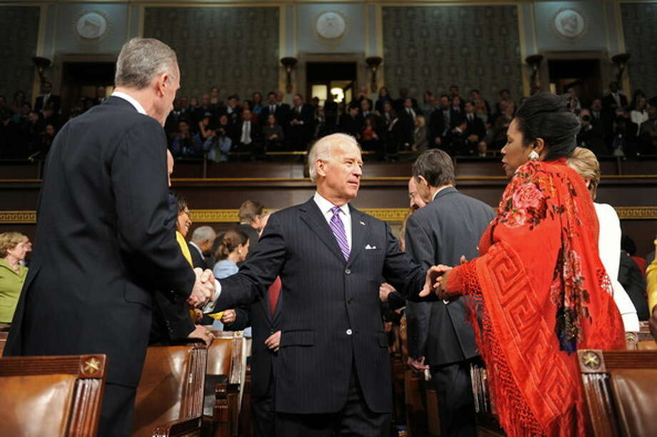 Greeting Vice President Joe Biden