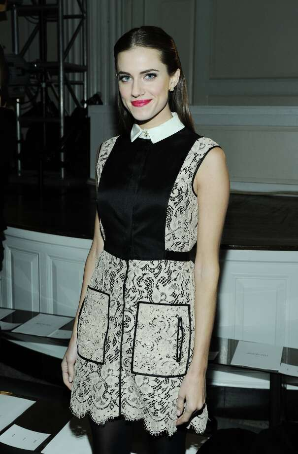Actress Allison Williams attends the Jason Wu fall 2013 fashion show during Mercedes-Benz Fashion Week on February 8, 2013 in New York City. Photo: Ilya S. Savenok, Getty Images / 2013 Getty Images