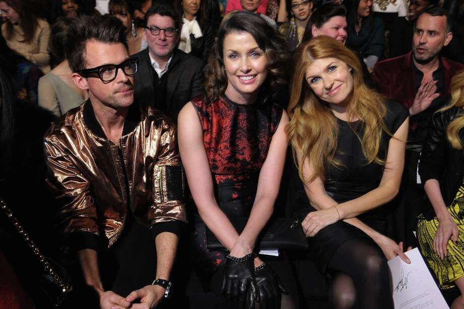 (L - R) Brad Goreski, Bridget Moynahan, and Connie Britton attend the Monique Lhuillier Fall 2013 fashion show during Mercedes-Benz Fashion at The Theatre at Lincoln Center on February 9, 2013 in New York City.  (Photo by Michael Loccisano/Getty Images for Mercedes-Benz Fashion Week) Photo: Michael Loccisano, (Credit Too Long, See Caption) / 2013 Getty Images
