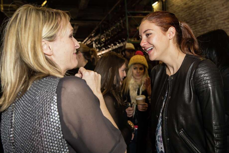 Designer Rebecca Taylor (L) and actress Shailene Woodley backstage at the Rebecca Taylor fall 2013 fashion show during Mercedes-Benz Fashion Week at Highline Stages on February 9, 2013 in New York City. Photo: Chelsea Lauren, Getty Images / 2013 Getty Images