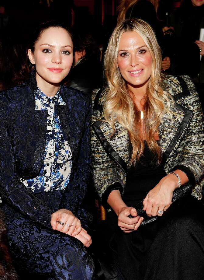 Singer-actress Katharine McPhee, left, and actress-model Molly Sims attend the Fall 2013 Zac Posen Runway Show on Sunday, Feb. 10, 2013 in New York. (Photo by Amy Sussman/Invision/AP) Photo: Amy Sussman, Associated Press / Invision