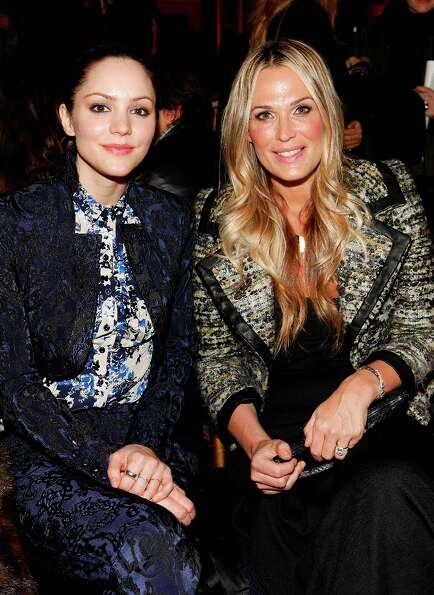 Singer-actress Katharine McPhee, left, and actress-model Molly Sims attend the Fall 2013 Zac Posen R