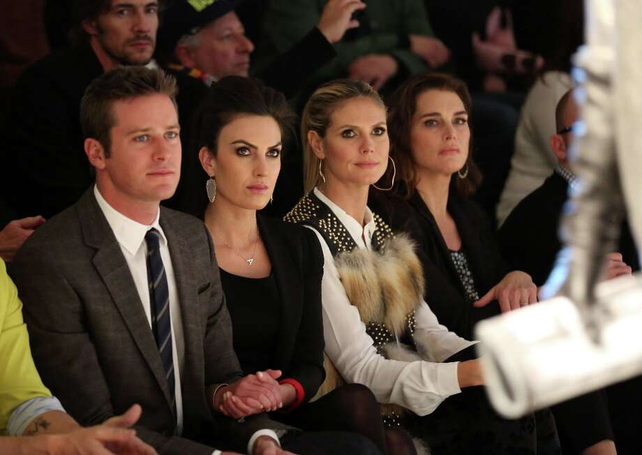 Armie Hammer, Elizabeth Chambers, Heidi Klum and Brooke Shields attend the Kenneth Cole Collection Fall 2013 fashion show during Mercedes-Benz Fashion Week at 537 West 27th Street on February 7, 2013 in New York City.  (Photo by Chelsea Lauren/Getty Images for Mercedes-Benz Fashion Week) Photo: Chelsea Lauren, (Credit Too Long, See Caption) / 2013 Getty Images
