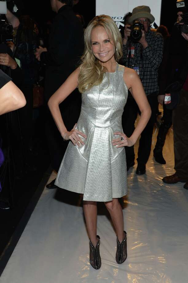 Actress Kristin Chenoweth attends the Project Runway Fall 2013 fashion show during Mercedes-Benz Fashion Week at The Theatre at Lincoln Center on February 8, 2013 in New York City.  (Photo by Mike Coppola/Getty Images for Mercedes-Benz Fashion Week) Photo: Mike Coppola, (Credit Too Long, See Caption) / 2013 Getty Images