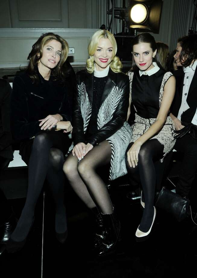 (L-R) Stephanie Seymour, Jaime King and Allison Williams attend the Jason Wu fall 2013 fashion show during Mercedes-Benz Fashion Week on February 8, 2013 in New York City. Photo: Ilya S. Savenok, Getty Images / 2013 Getty Images