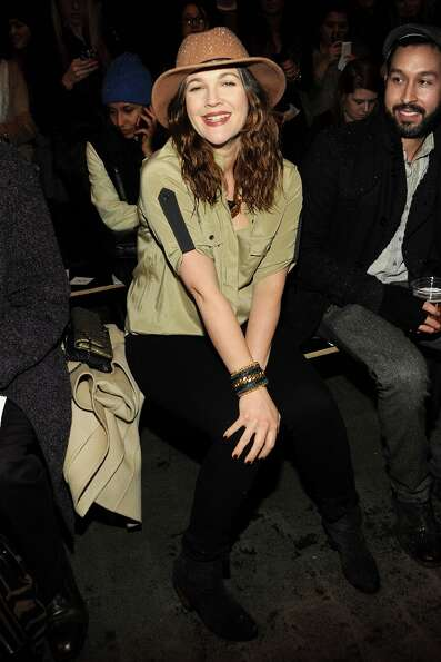 Drew Barrymore attends the Rag & Bone Women's fall 2013 fashion show during Mercedes-Benz Fashion We