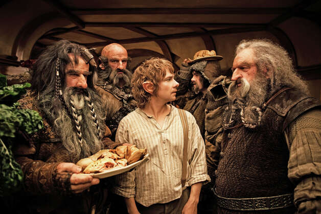 Bilbo Baggins (Martin Freeman), center, teams with dwarves on an âÄúunexpected journeyâÄù in the film âÄúThe Hobbit,âÄù opening Feb. 15 on the giant IMAX screen at The Maritime Aquarium at Norwalk. Photo: Contributed Photo / James Fisher, Contributed Photo / © 2012 Warner Bros. Entertainment Inc. and Metro-Goldwyn-Mayer Pictures Inc. (US, Canada & New Line Foreign Territories) © 201
