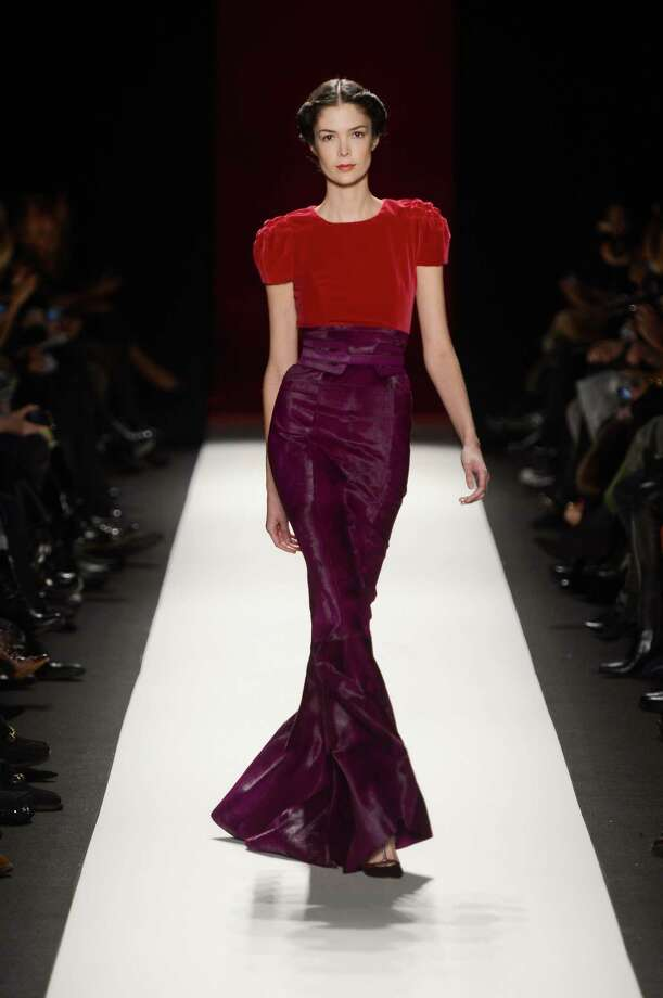 A model walks the runway at the Carolina Herrera Fall 2013 fashion show during Mercedes-Benz Fashion Week at Lincoln Center on February 11, 2013 in New York City.  Photo: Frazer Harrison, (Credit Too Long, See Caption) / 2013 Getty Images