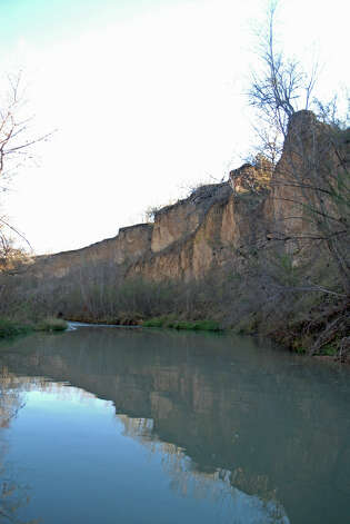 Sand Cliffs along Medina River in South Bexar County