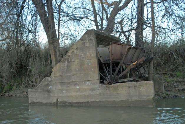 An old water mill along the Medina River in South Bexar County