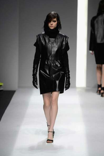A model walks the runway at the ICB By Prabal Gurung Fall 2013 fashion show during Mercedes-Benz Fas