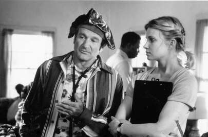 CARIN FISHER in PATCH ADAMS (1998): Many of the key characters in this Robin Williams movie were composites, including the love interest played by Monica Potter. The dastardly Dean Walcott is an even more obvious invention. We couldn't find a good photo of actor Bob Gunton.