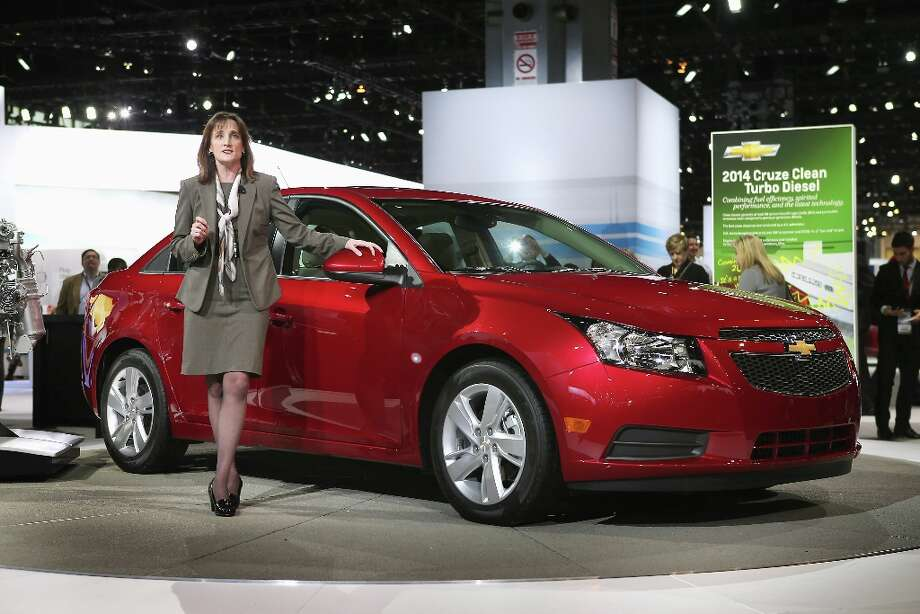 CHICAGO, IL - FEBRUARY 07: Cristi Landy, small car marketing director for Chevrolet, introduces the 2014 Cruze with a 2.0 turbo diesel motor at the Chicago Auto Show on February 7, 2013 in Chicago, Illinois. The Chicago Auto Show, one of the oldest and largest in the country, will be open to the public February 9-18. Photo: Scott Olson, Getty Images / 2013 Getty Images