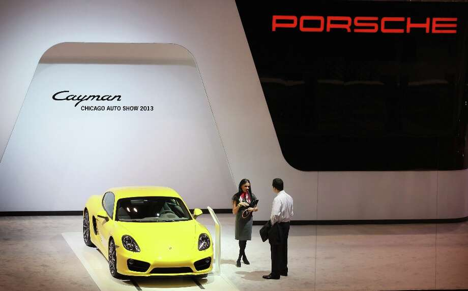CHICAGO, IL - FEBRUARY 07:  Porsche displayes their Cayman during a media preview day at the Chicago Auto Show on February 7, 2013 in Chicago, Illinois. The Chicago Auto Show, one of the oldest and largest in the country, will be open to the public February 9-18. Photo: Scott Olson, Getty Images / 2013 Getty Images