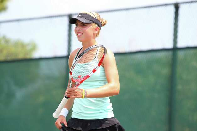 Photo By David Kenas-- Fairfielder Ellyse Hamlin is one of the top-10 16U tennis players in the United States. Photo: Contributed Photo / David Kenas Photography