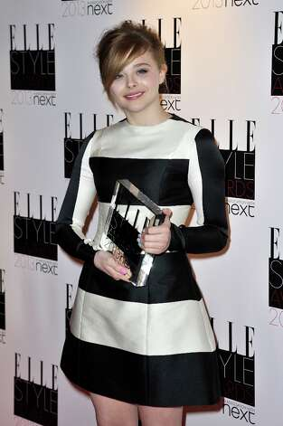 Next Future Icon winner Chloe Moretz poses in the press room during the Elle Style Awards at The Savoy Hotel on February 11, 2013 in London, England. Photo: Gareth Cattermole, Getty Images / 2013 Getty Images