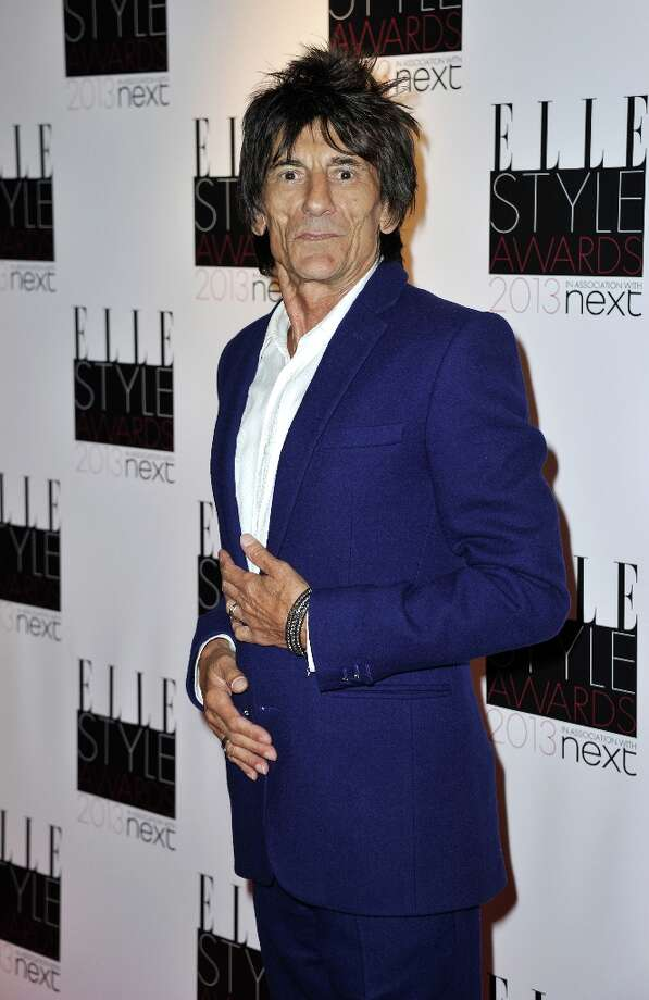 Ronnie Wood poses in the press room during the Elle Style Awards at The Savoy Hotel on February 11, 2013 in London, England. Photo: Gareth Cattermole, Getty Images / 2013 Getty Images