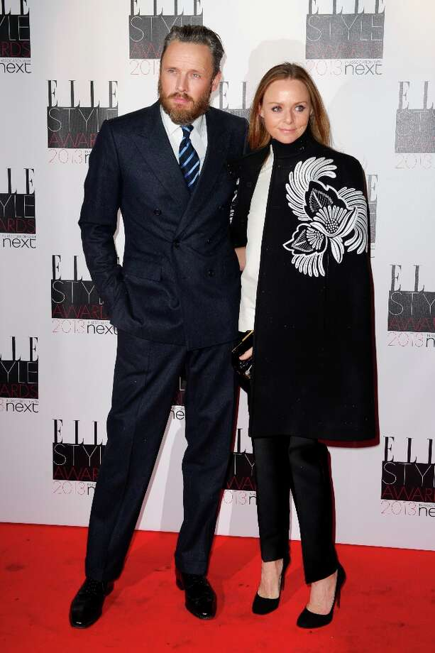 Alasdhair Willis and British designer Stella McCartney arrives for the Elle Style Awards at a central London venue, Monday, Feb. 11, 2013, in London. (Photo by Jonathan Short/Invision/AP) Photo: Jonathan Short, Associated Press / Invision
