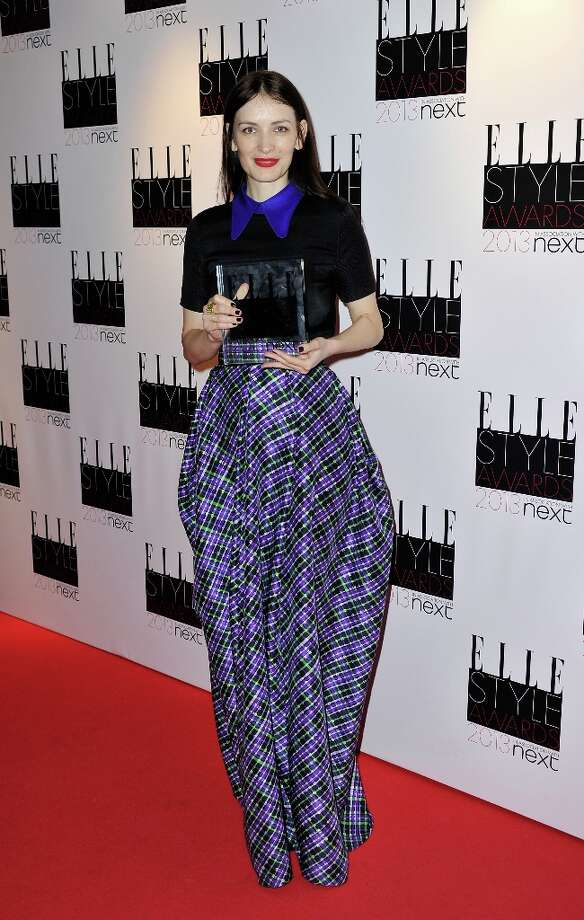 Red Carpet Fashion winner Roksanda Ilincic poses in the press room during the Elle Style Awards at The Savoy Hotel on February 11, 2013 in London, England. Photo: Gareth Cattermole, Getty Images / 2013 Getty Images