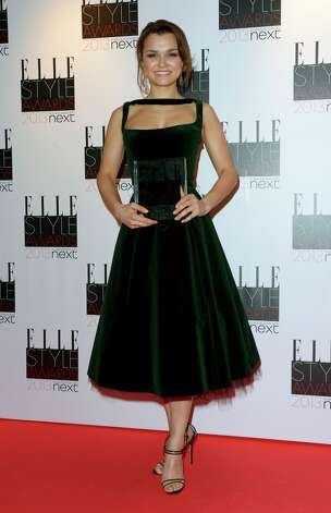 Samantha Barks, winner of the Breakthrough Performance award seen at the ELLE Style Awards at the Savoy Hotel in London on Monday, Feb. 11, 2013. (Photo by Jon Furniss/Invision/AP) Photo: Jon Furniss, Associated Press / Invision