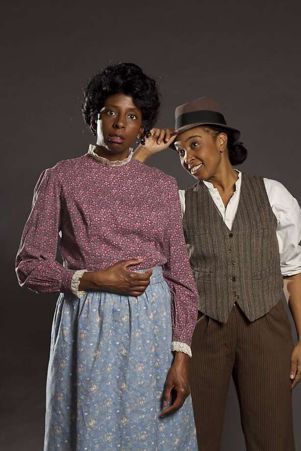 "Velina Brown and Dawn L. Troupe in Theatre Rhinoceros' ""A Lady and a Woman."" Photo: Kent Taylor"