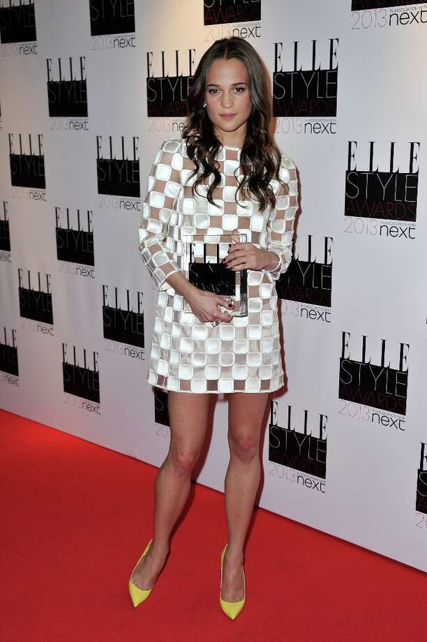 Editor's Choise winner Alicia Vikander poses in the press room during the Elle Style Awards at The Savoy Hotel on February 11, 2013 in London, England. Photo: Gareth Cattermole, Getty Images / 2013 Getty Images