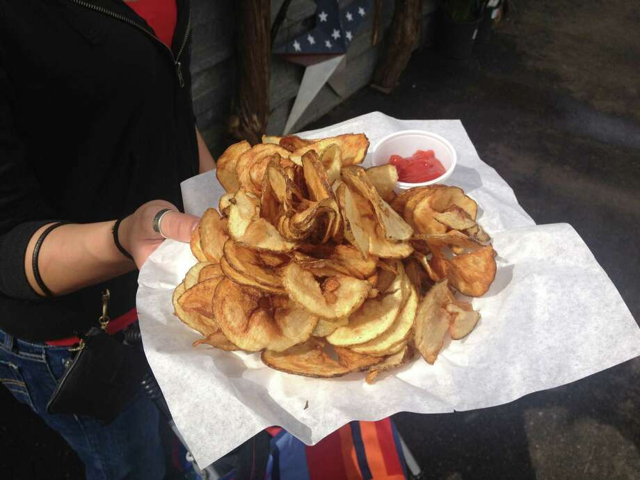 Freshly fried potato chips at the San Antonio Stock Show & Rodeo. Photo: Sarah Tressler/Express-News