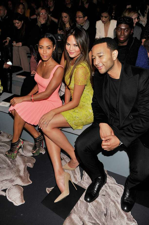 Jada Pinkett Smith, model Chrissy Teigen, and singer John Legend attend the Vera Wang Fall 2013 fashion show during Mercedes-Benz Fashion Week at The Stage at Lincoln Center on February 12, 2013 in New York City.  (Photo by Stephen Lovekin/Getty Images for Mercedes-Benz Fashion Week) Photo: Stephen Lovekin, (Credit Too Long, See Caption) / 2013 Getty Images
