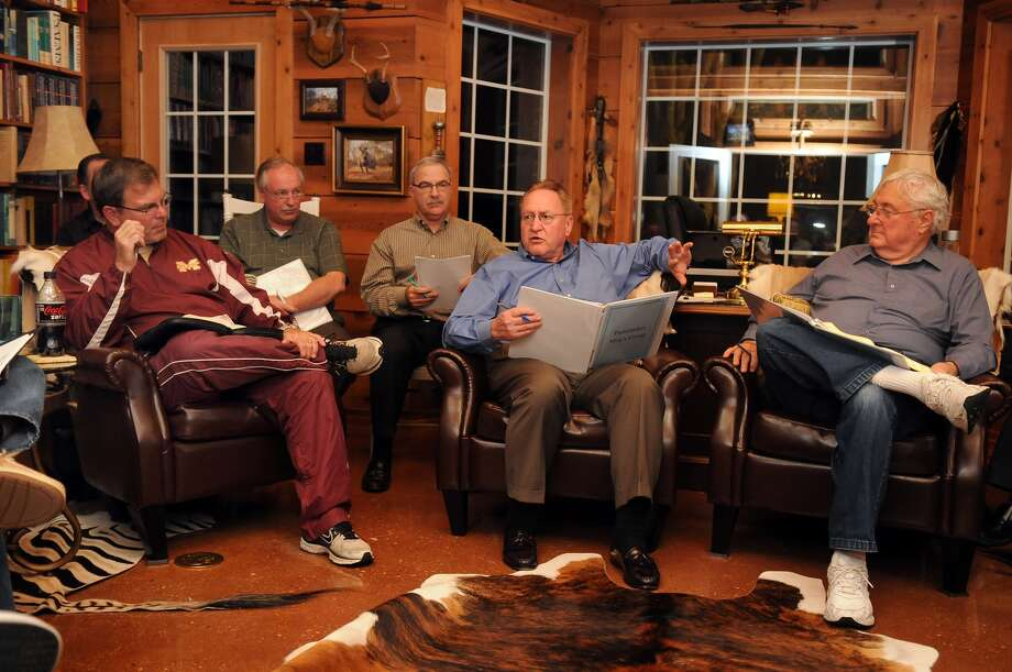 At home. Mark Keough leads the Pathfinders Fellowship of The Woodlands. Photo: Jerry Baker, Freelance