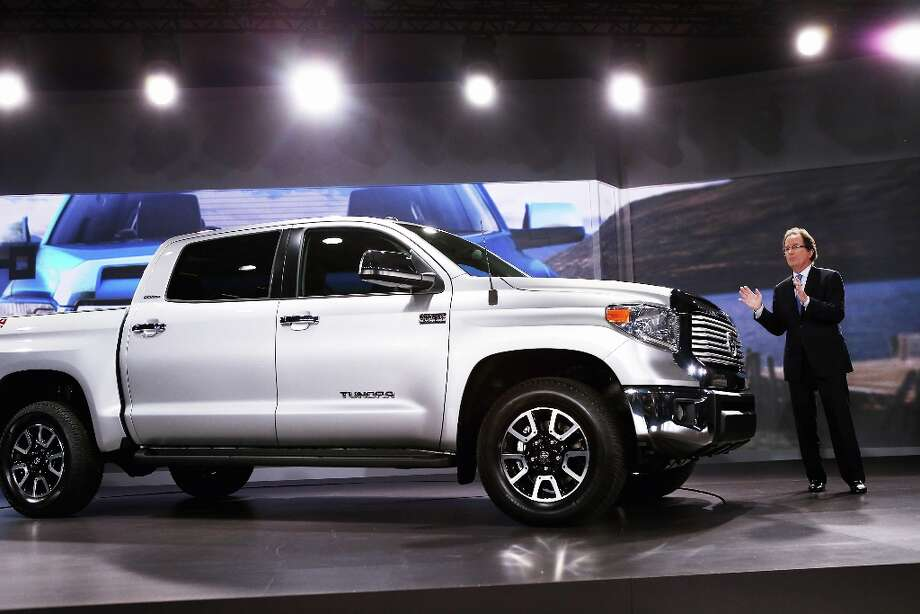 CHICAGO, IL - FEBRUARY 07:  Bill Fay, Toyota's group vice president and general manager, introduces the 2014 Tundra pickup truck at the Chicago Auto Show on February 7, 2013 in Chicago, Illinois. The Chicago Auto Show, one of the oldest and largest in the country, will be open to the public February 9-18. Photo: Scott Olson, Getty Images / 2013 Getty Images