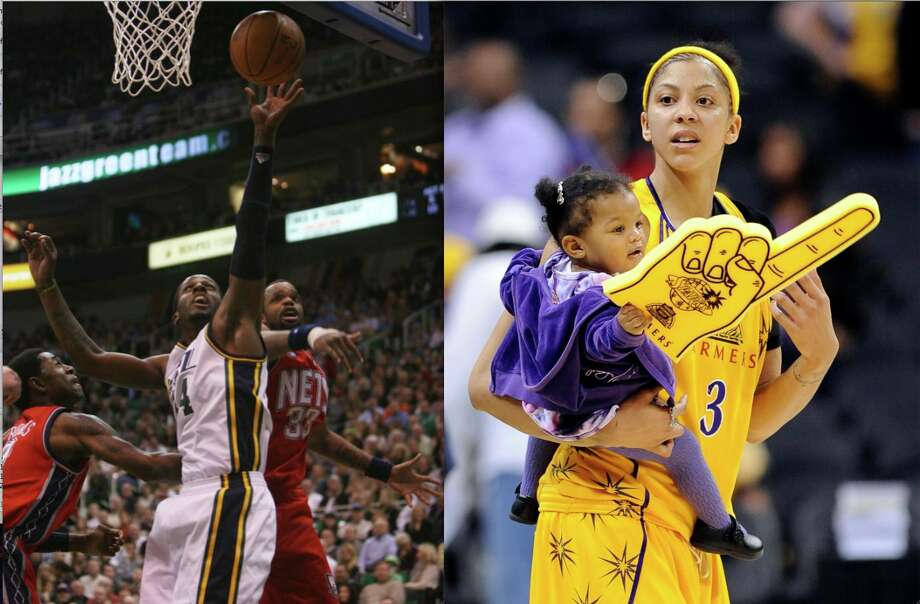 Daughter Lailaa has some serious basketball genes to look forward to — her parents are Nets forward Sheldon Williams and two-time NCAA champion Candace Parker.