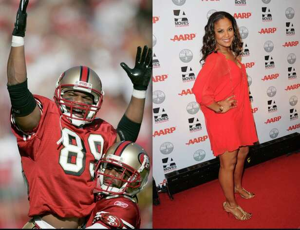 Here's one for 49ers fans: boxer Laila Ali and husband (former Bears/Chargers/Jets/Niners wide receiver) Curtis Conway. The couple, who have been married since 2007, have five children together, three from Conway's previous marriage.