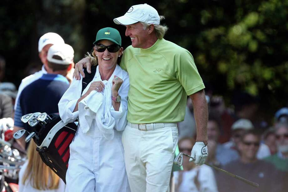 Tennis legend Chris Evert is the queen of sports romances. She's been engaged to Jimmy Connors (the wedding was called off) and married to British tennis player John Lloyd, Olympic downhill skier Andy Mill and golfer Greg Norman (seen here). Evert and Norman divorced in 2009. Photo: David Cannon, Getty Images / Getty Images North America