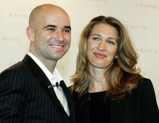 Andre Agassi and Steffi Graf are true tennis royalty. The tennis legends married in 2001, and four days later, their son Jaden was born. Photo: CHRISTOF STACHE, AP / AP