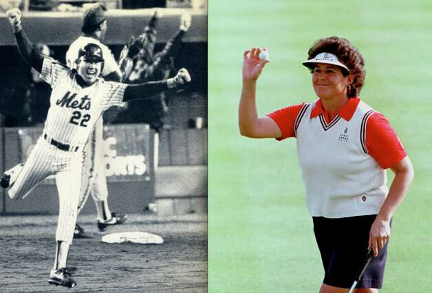 Golfer Nancy Lopez won 48 LPGA events, while husband Ray Knight is best known for scoring the winning run of Game Six of the 1986 World Series and taking home MVP honors. They've been married since 1982.