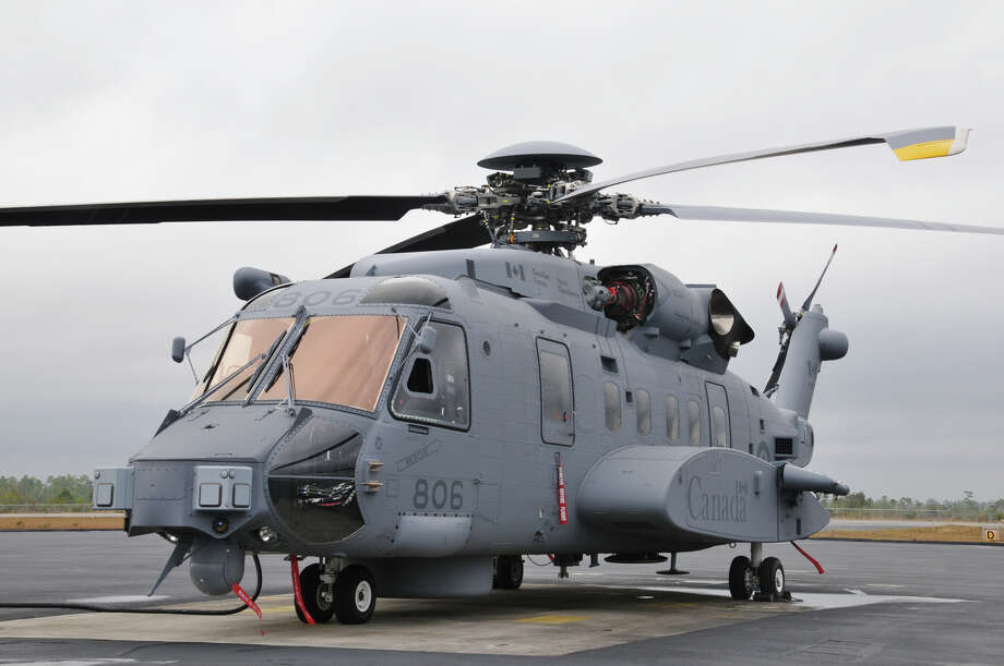 A Sikorsky-made CH-148 Cyclone sits in at a Canadian base in Nova Scotia where it is used for training of Canadian forces in May of 2011. Source: Royal Canadian Air Force. The first interim maritime helicopter, the CH-148 Cyclone, arrived at 12 Wing Shearwater, N.S. last week to support training of Canadian Forces aircrew and technicians for the Maritime Helicopter Project (Sikorsky Aircraft) Photo: Contributed Photo / Connecticut Post Contributed