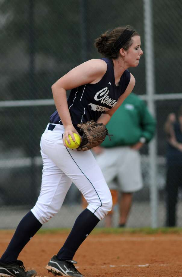 Clements pitcher Meredith Miller works against The Woodlands. Freelance photo by Jerry Baker Photo: Jerry Baker, Freelance