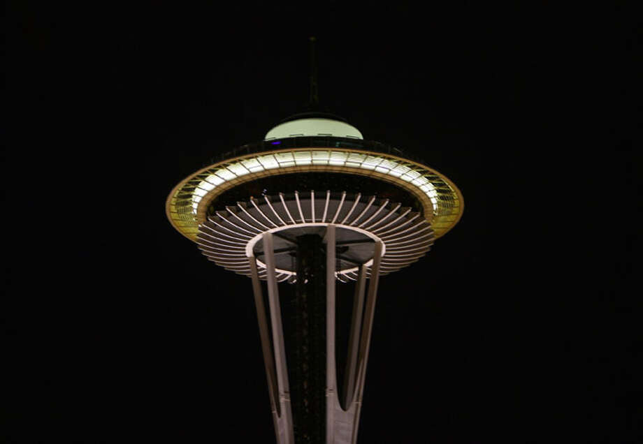 Head up to the Space Needle observation deck. A big reason locals don't go up here often is because it's $19 per person. But that could be worth it if you have a great Valentine's Day experience. Seniors get a $2 discount. Photo: GABRIEL BOUYS, AFP/Getty Images / 2006 AFP