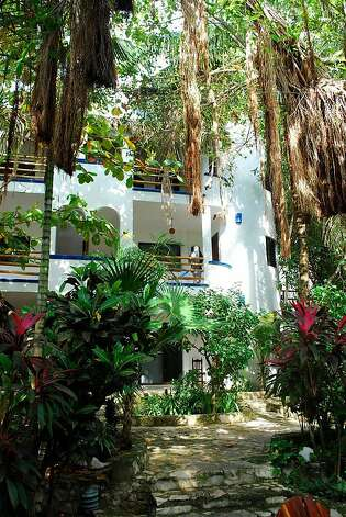 The Luna Blue Hotel is located a few blocks from the beach in Playa del Carmen and offers 18 rooms. Photo: Susan Carlton