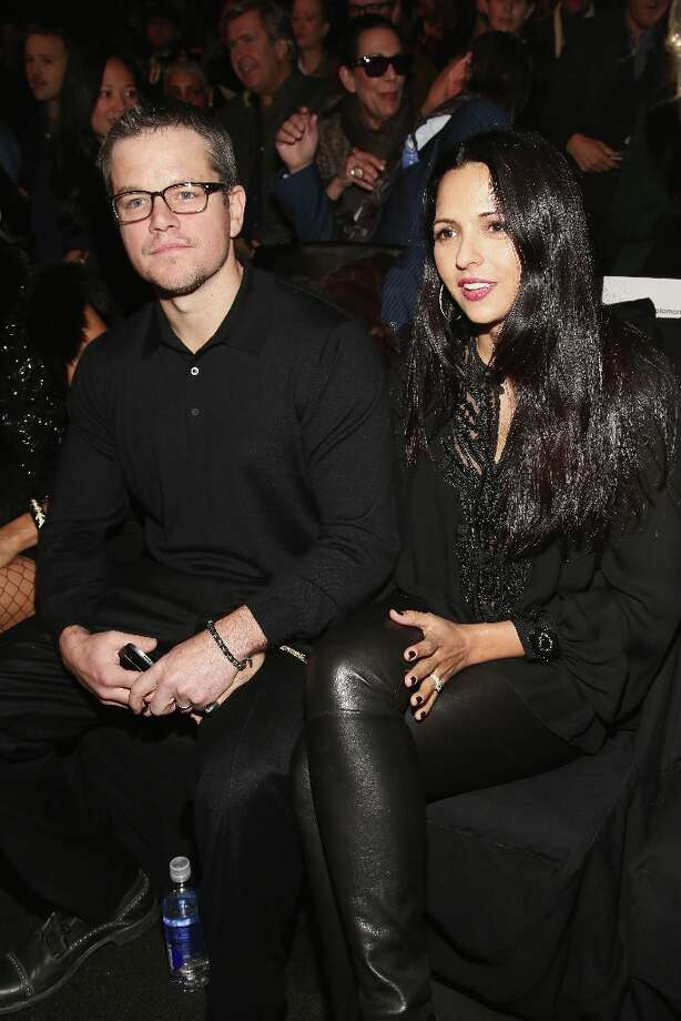 NEW YORK, NY - FEBRUARY 12:  Actor Matt Damon and wife Luciana Barroso attend the Naeem Khan Fall 2013 fashion show during Mercedes-Benz Fashion Week at The Theatre at Lincoln Center on February 12, 2013 in New York City. Photo: Astrid Stawiarz / 2013 Getty Images