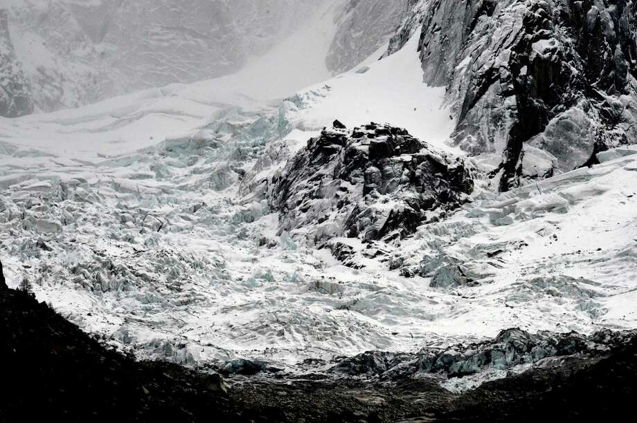 "The glacier of the ""Drus"" peaks is pictured on November 8, 2011 near Chamonix  (JEAN-PIERRE CLATOT/AFP/Getty Images) Photo: JEAN-PIERRE CLATOT, Multiple / 2011 AFP"