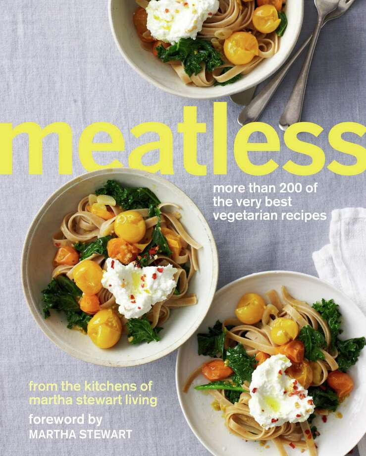 "Cover: ""Meatless: More Than 200 of the Very Best Vegetarian Recipes"" (Clarkson Potter) from the Kitchen of Martha Stewart Living. Photo: Clarkson Potter"