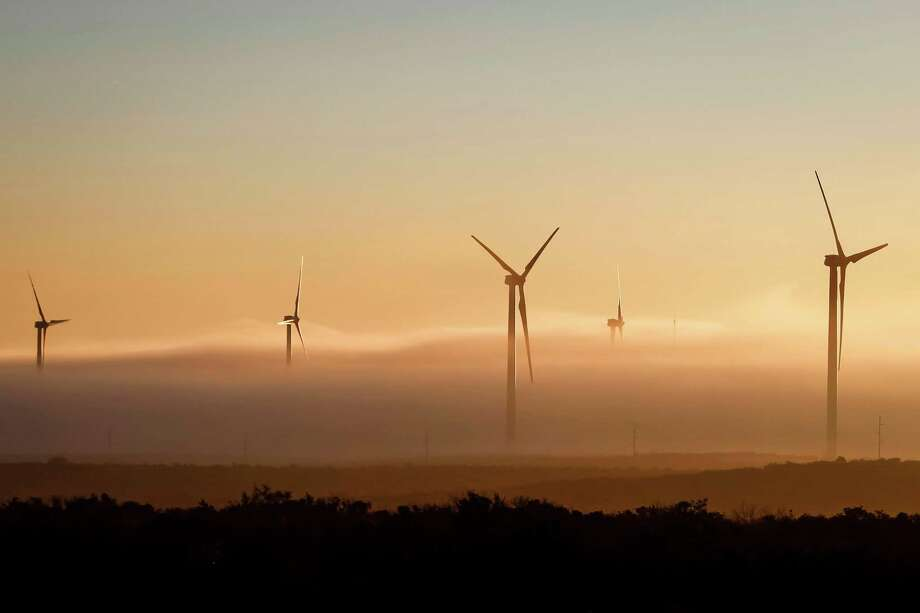Texas, the nation's No. 1 wind energy producer, added 1,504 megawatts of capacity in 2012, with total national capacity jumping about 40 percent in December. Photo: Michael Paulsen, Staff / © 2012 Houston Chronicle